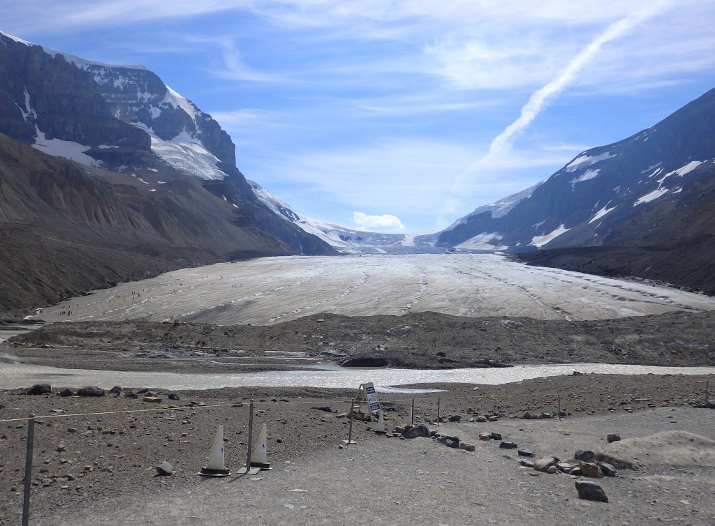 Athabasca Gletscher Icefields Parkway