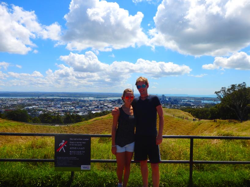 Vulkan Aussicht auf Auckland