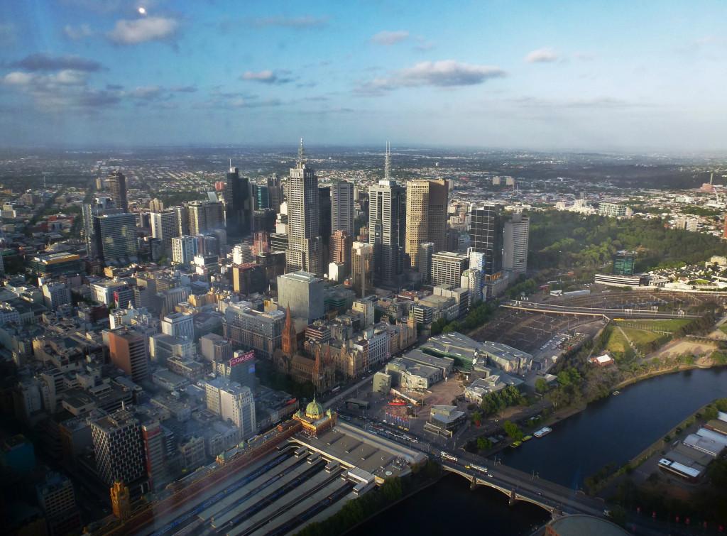 Eureka Skydeck Melbourne von oben