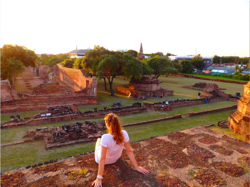 Aussicht Wat Ratchaburana Ayutthaya