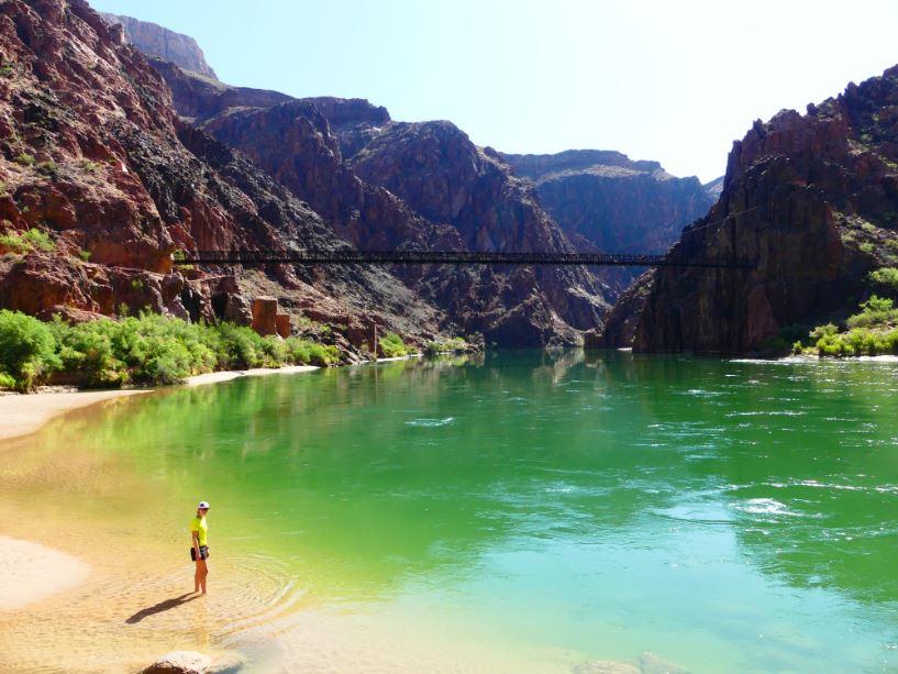 Baden im Colorado River
