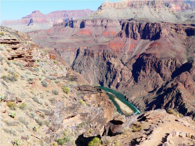 Colorado River kommt in Sicht