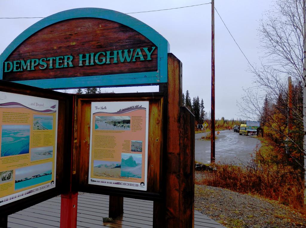 Dempster Highway sign