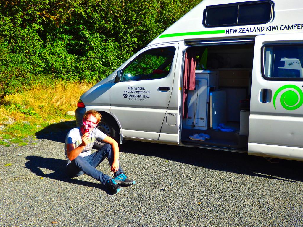Camper Neuseeland guy Eis