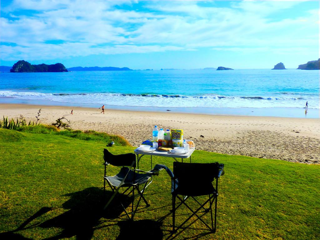 Hahei Beach Camper Frühstück
