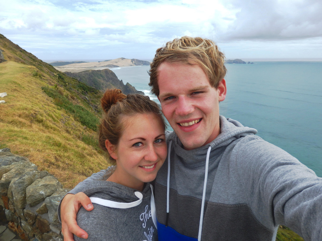 couple am Cape Reinga Neuseeland