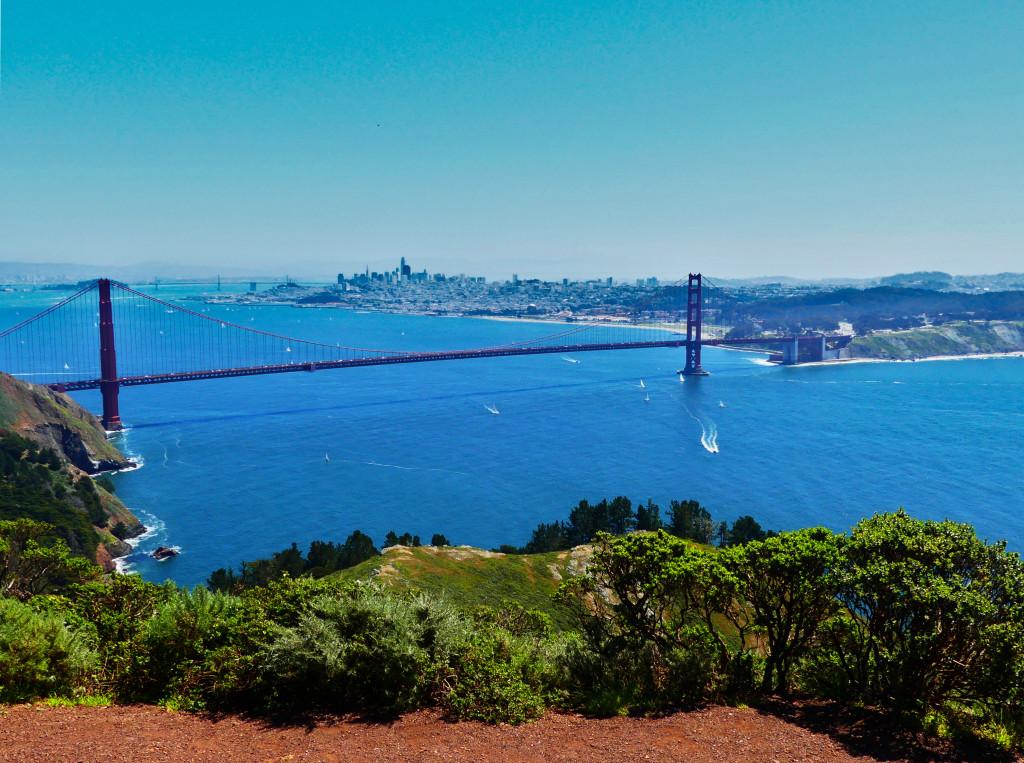 Aussicht Hawk Hill San Francisco Golden Gate Bridge Tipps