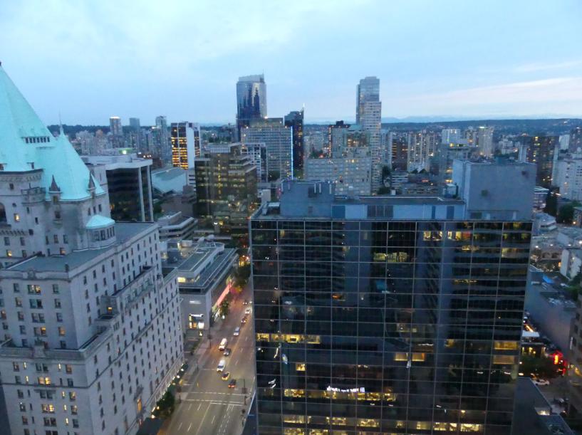 Aussicht aus dem Hotel Innenstadt Vancouver