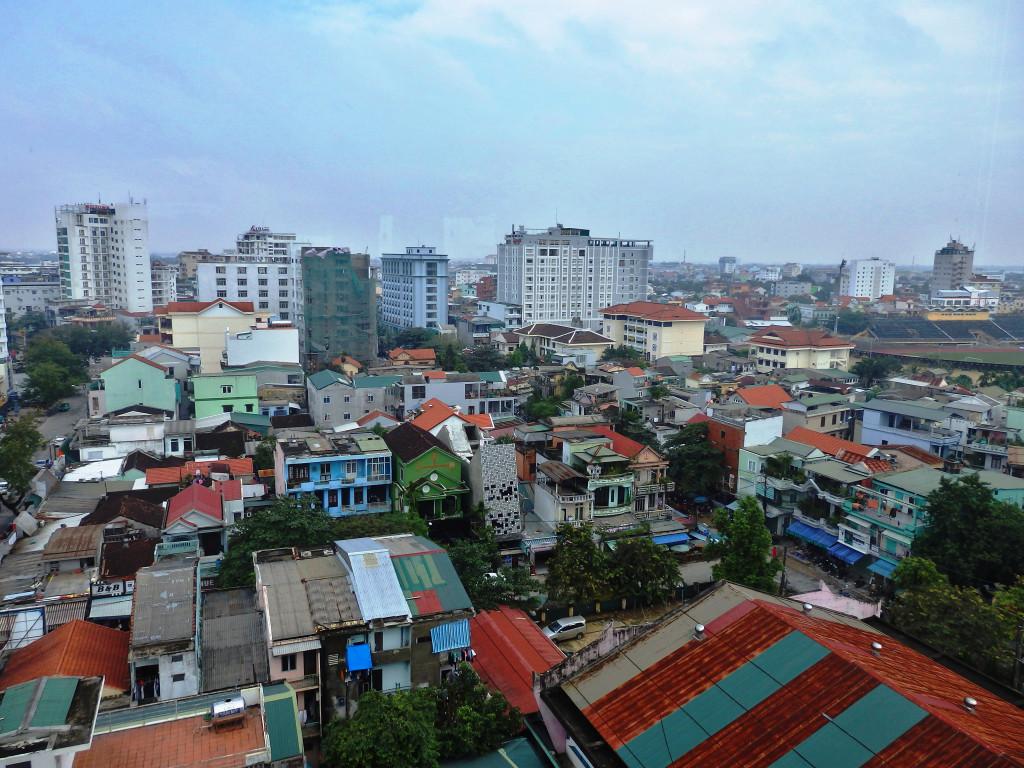 Hue Stadt von oben