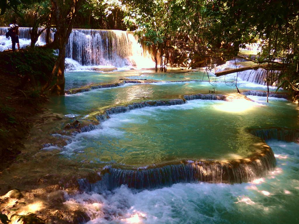 Kuang Si Waterfalls Terrassen