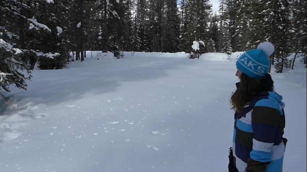 Lake Louise Campground im Winter