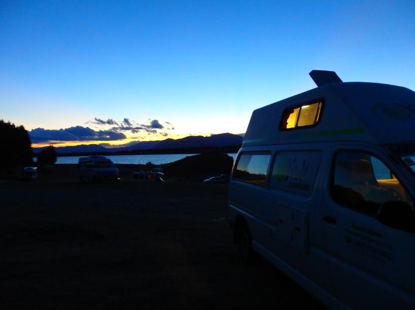 Lake Pukaki camping, Mount Cook
