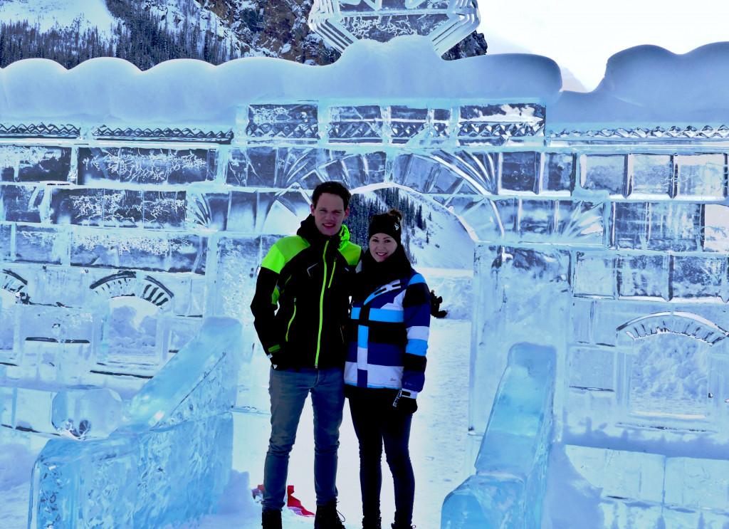 Eisschloss Lake Louise Kanada