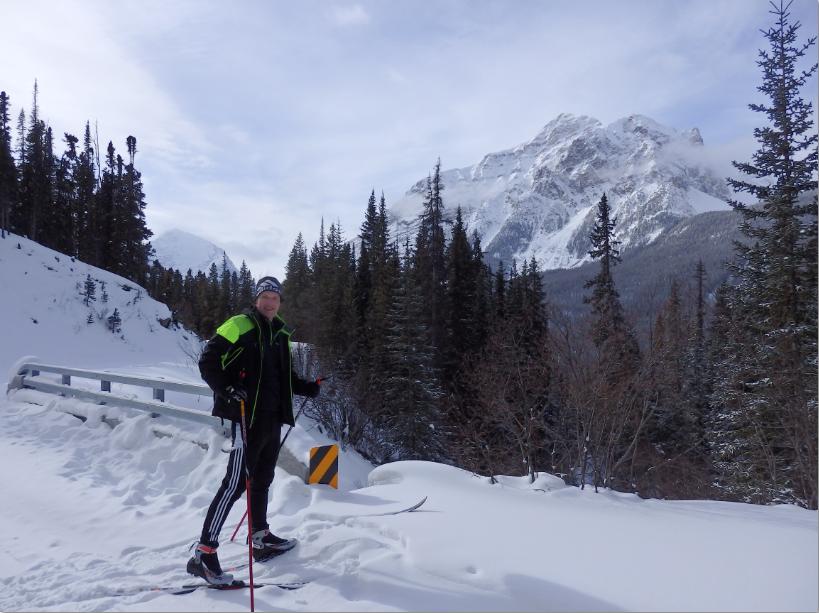 cross country skiing Edith Cavell jasper winter