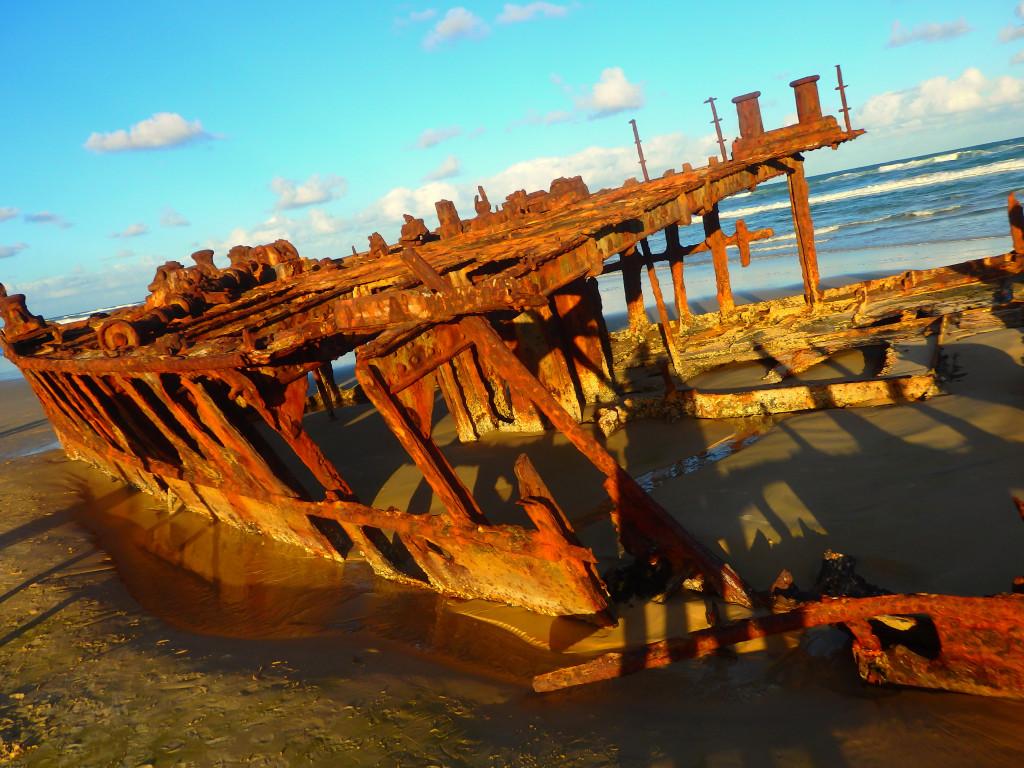 Maheno Shipwreck low tide Ebbe