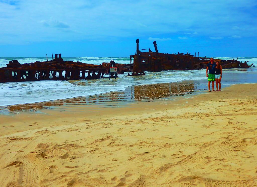 Maheno Shipwreck high tide Flut