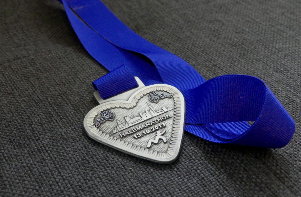 Medaille erster Halbmarathon