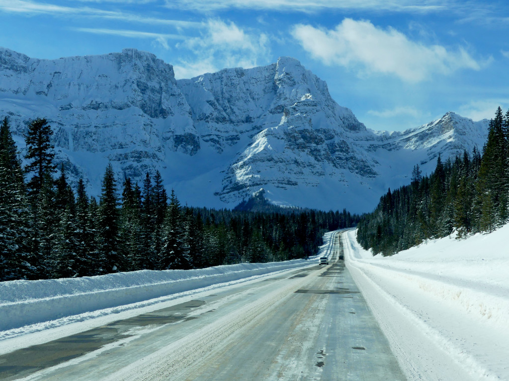 Icefields Parkway Kanada Winter