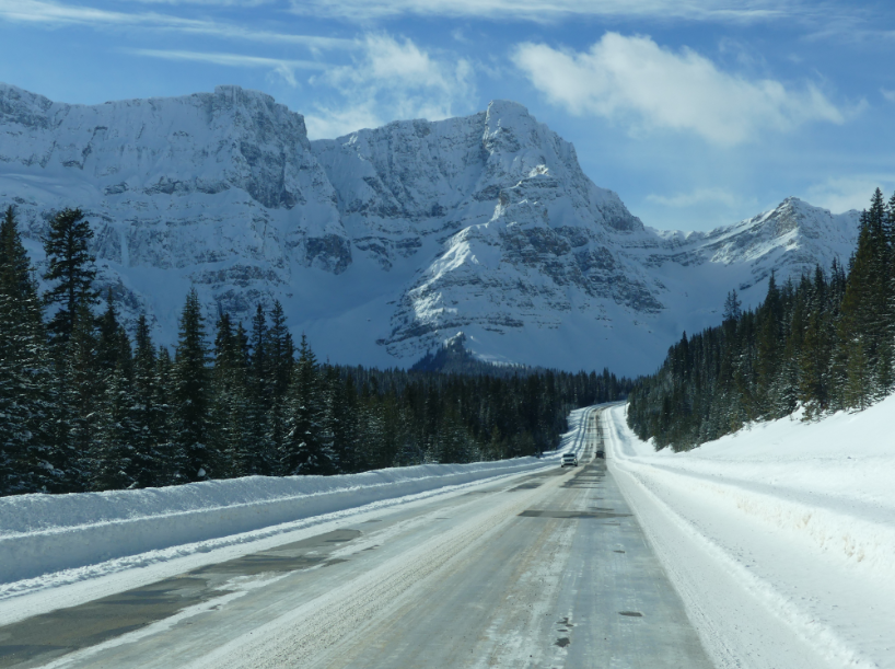 Icefields Parkway Winter in Kanada