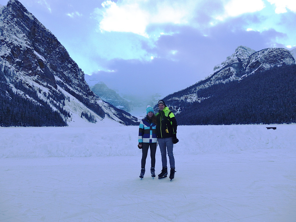 Schlittschuhlaufen Lake Louise