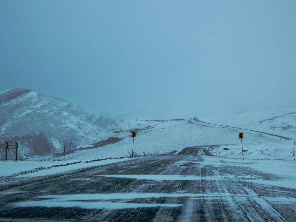 Schneeverwehungen Dempster Highway