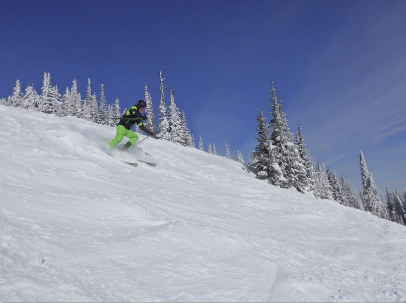Skifahren Sun Peaks Winter