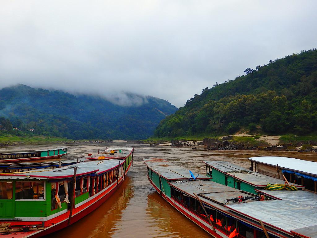Slowboat Pakbeng Mekong River Thailand nach Laos
