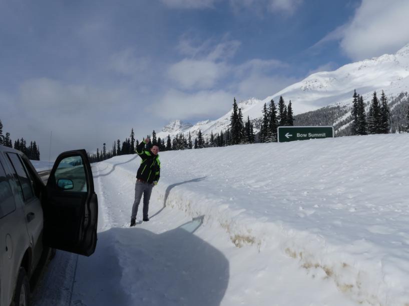 Schnee gesperrte Straßen