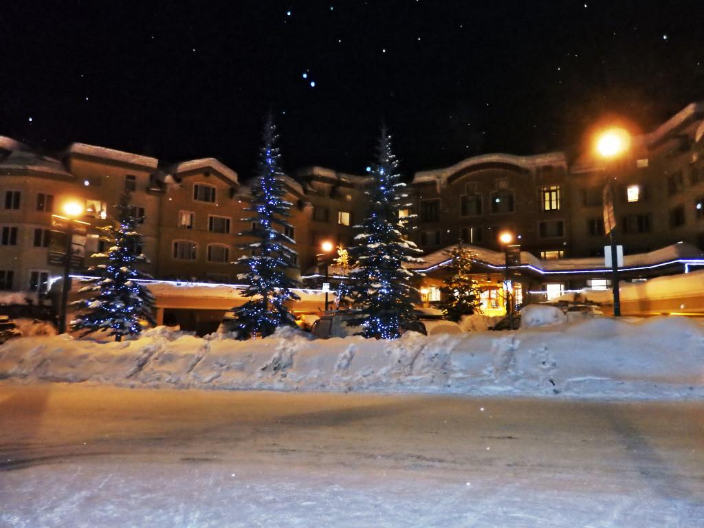 Sun peaks Ort Winter Nacht