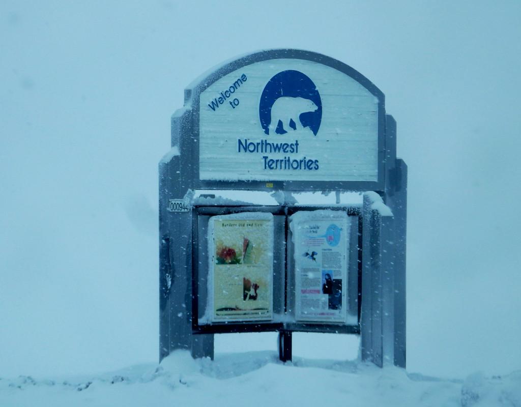 Northwest Territories border sign