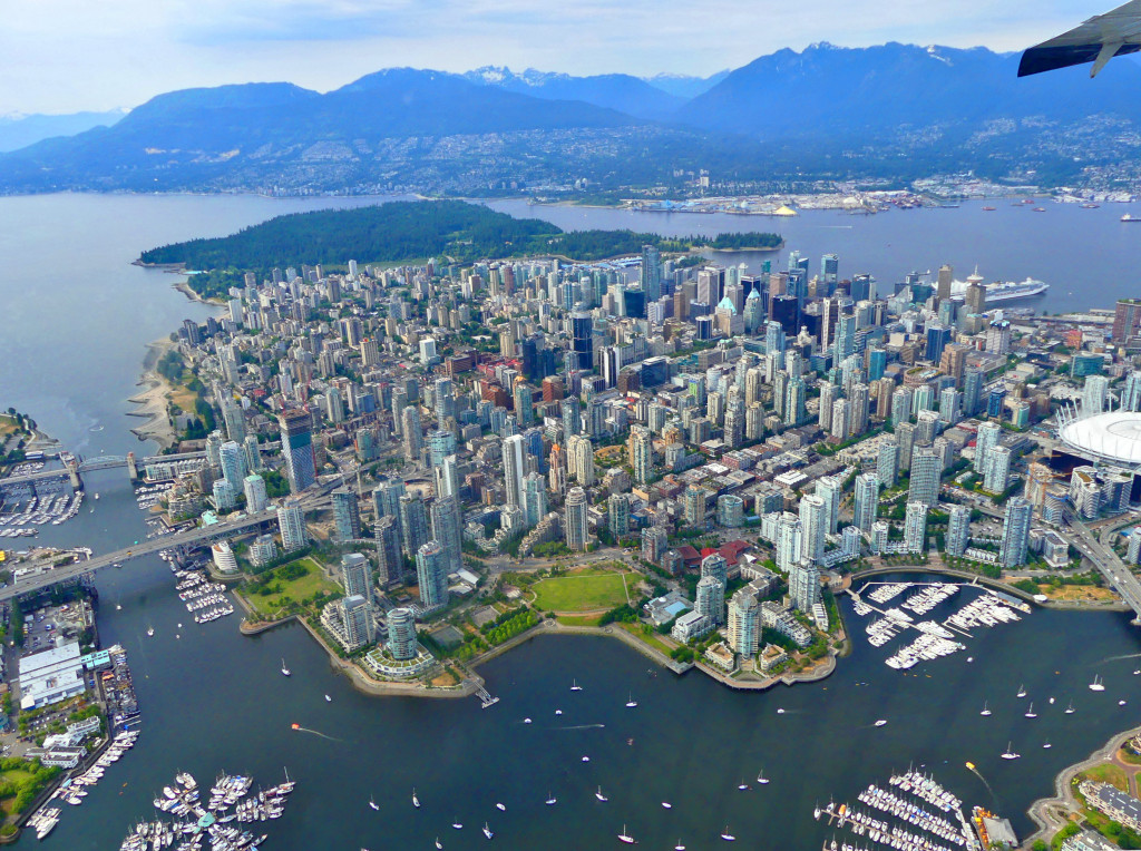 Vancouver von oben downtown