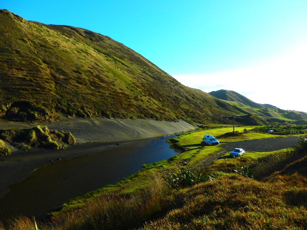 Wildcampen Neuseeland Hamiltons Gap