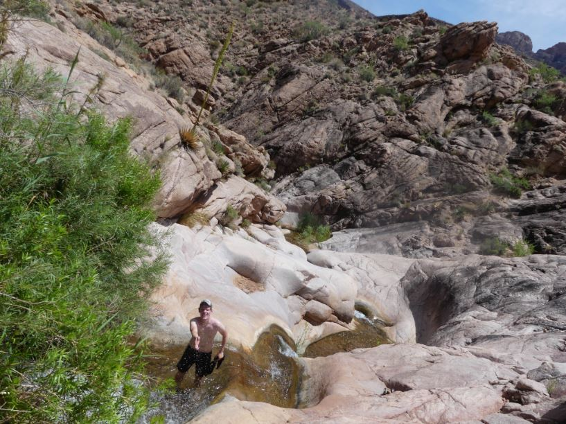Wasserfall zum Abkühlen