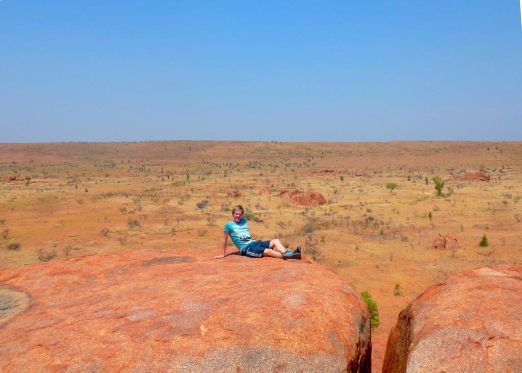 Weite des Outback Australien