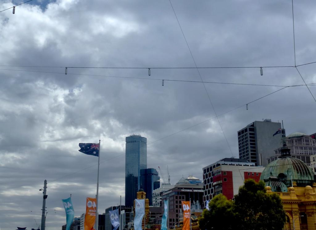 Wetter Melbourne Flagge Wolken Himmel