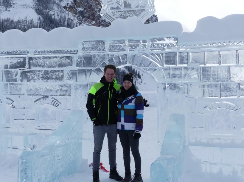 Winter in Kanada Lake Louise Eisschloss