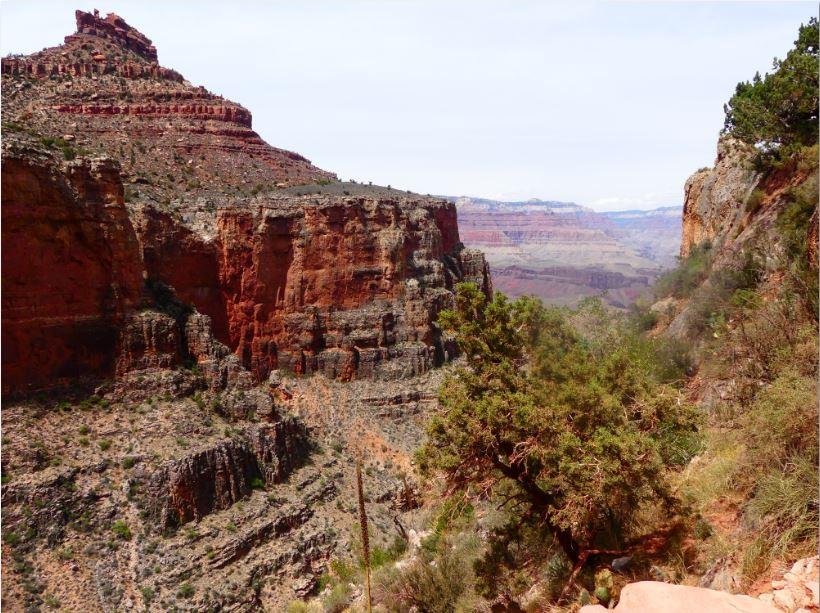 fast am Ziel der Wanderung im Grand Canyon